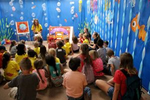 Maggie teaching kids